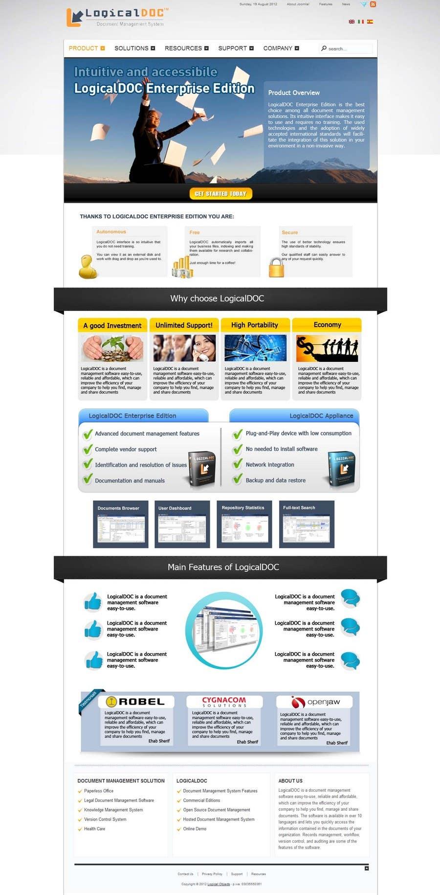 Konkurrenceindlæg #11 for Graphic Design for LogicalDOC
