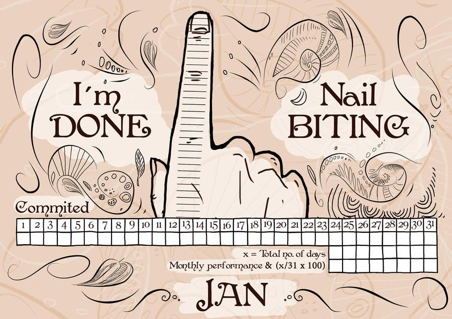 Entry #16 by MarekDAZPostulka for Illustrate my Nail Biting chart ...