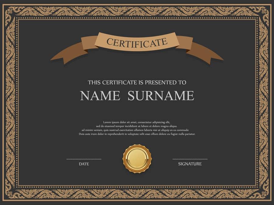 Certificate Design Templates Psd Mandegarfo