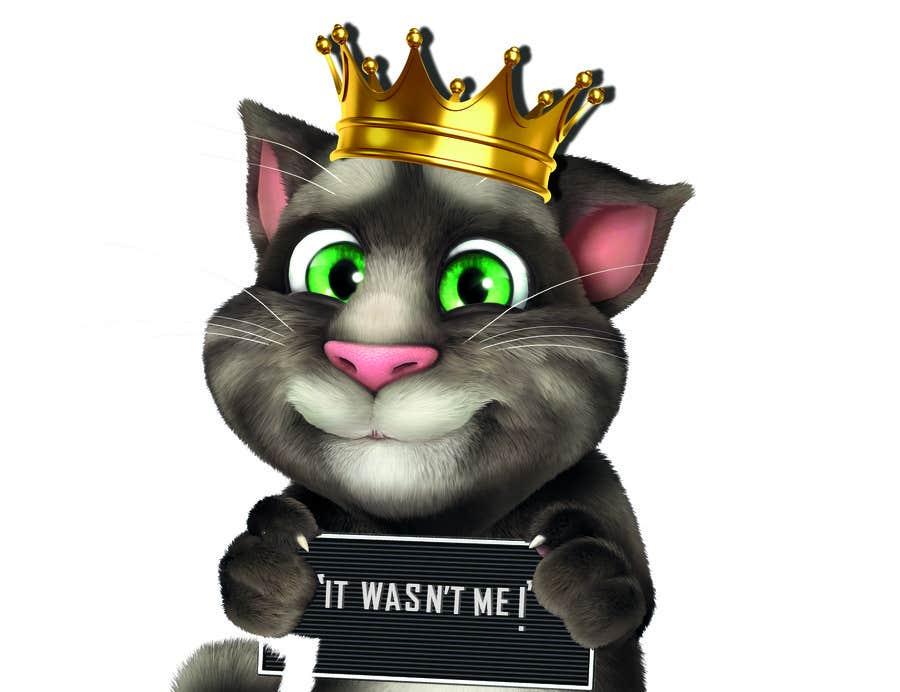 Bài tham dự cuộc thi #                                        9                                      cho                                         make and put crown on cat's head.