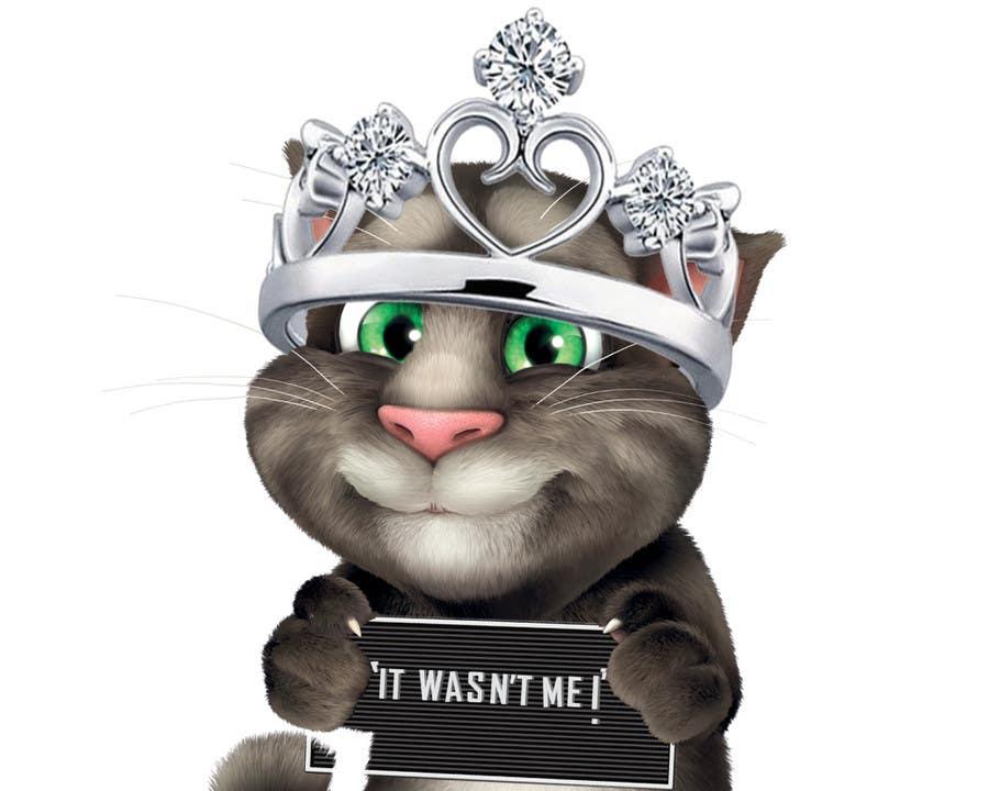 Bài tham dự cuộc thi #                                        16                                      cho                                         make and put crown on cat's head.