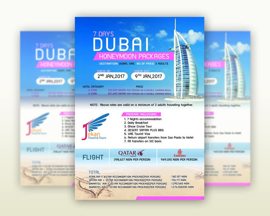 Contest Entry 6 For DESIGN HONEYMOON PACKAGE BROCHURE