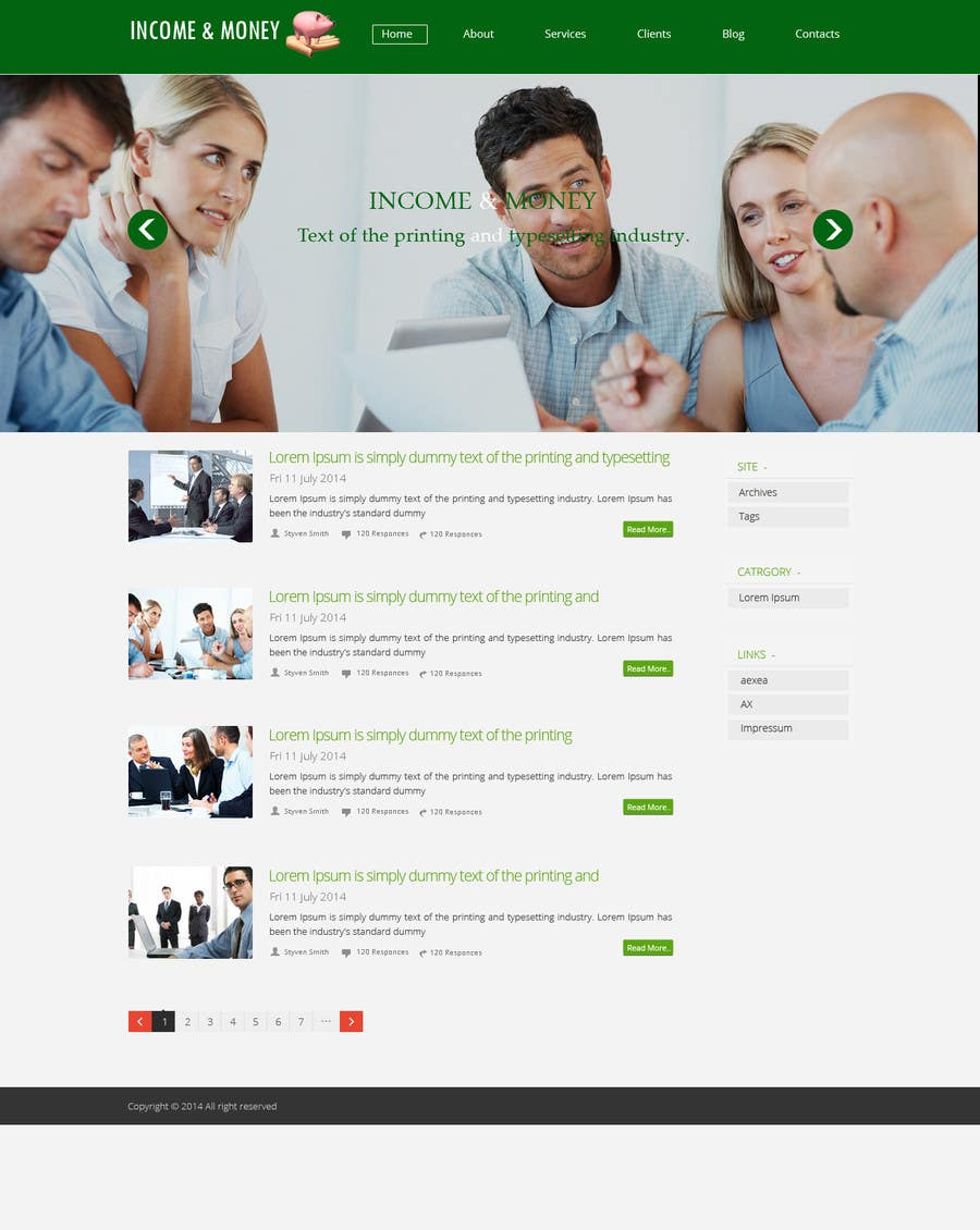 #9 for Create a Wordpress Template for Residual Income SIte by web92