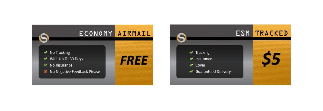Penyertaan Peraduan #                                        8                                      untuk                                         Design 2 Icons for Shipping profile on ebay
