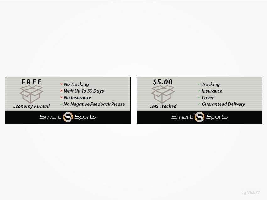 Penyertaan Peraduan #                                        12                                      untuk                                         Design 2 Icons for Shipping profile on ebay