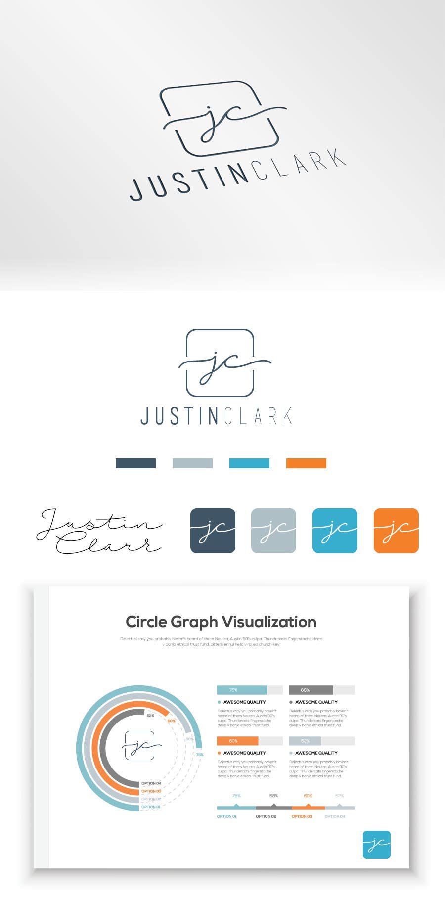 contest entry 53 for personal brand creation logo business card email signature - 53 Powerpoint Template For Business Final