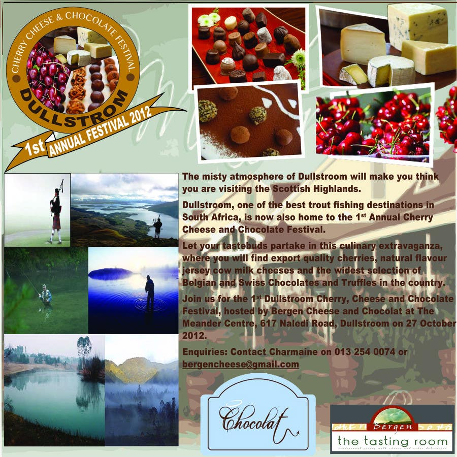 Contest Entry #                                        20                                      for                                         Flyer & Basic Logo for Dullstroom Cherry Cheese and Chocolate Festival