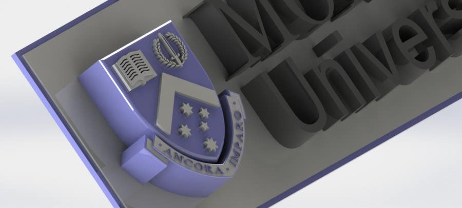Entry #9 by SHRELHASSAN for 3d model of a logo and text for