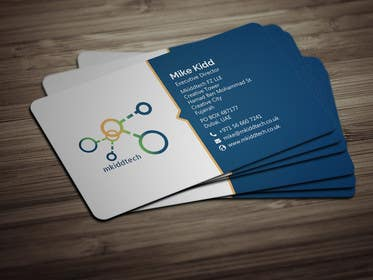 design a business card template for mkiddtech fz lle in english