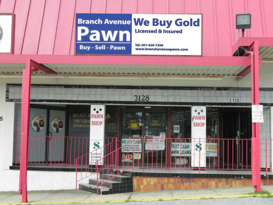 Bài tham dự cuộc thi #                                        39                                      cho                                         Graphic Design for Branch Avenue Pawn Store Front Sign