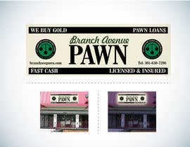 #40 untuk Graphic Design for Branch Avenue Pawn Store Front Sign oleh Guxalin