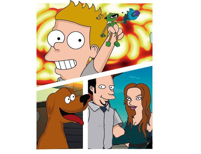 entry 34 by jessigz for draw a family portrait in style of futurama