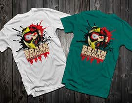 #32 para T-Shirt Design: Brain Damaged por Drhen
