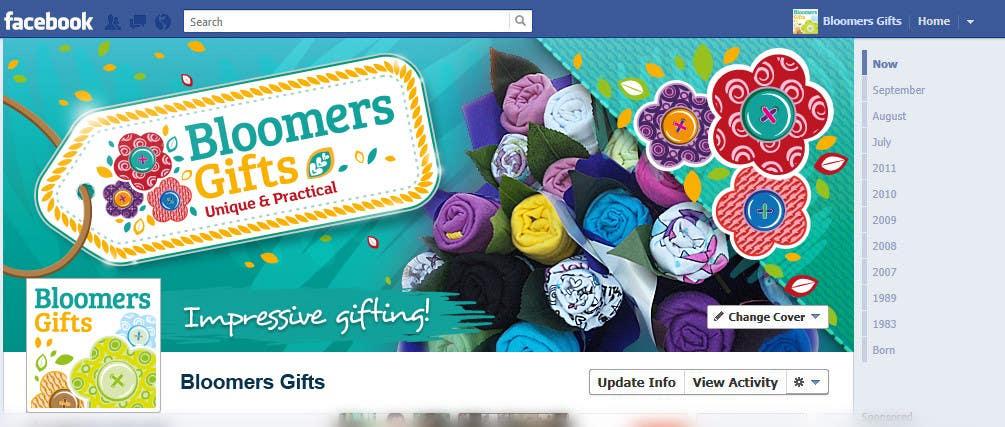 Kilpailutyö #                                        105                                      kilpailussa                                         Graphic design work for Bloomers Gifts