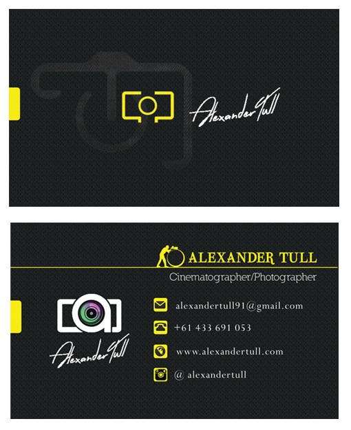 Entry 47 by pingmetamil for design some business cards for contest entry 47 for design some business cards for cinematographerphotographer website reheart Choice Image