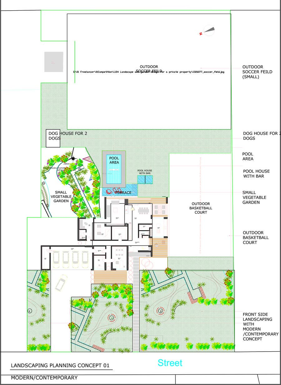 Landscape design drawings freelancer for Landscape design contest