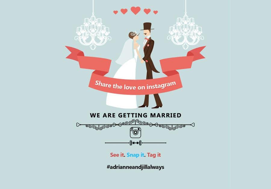 entry 2 by sscgart for simple wedding poster freelancer