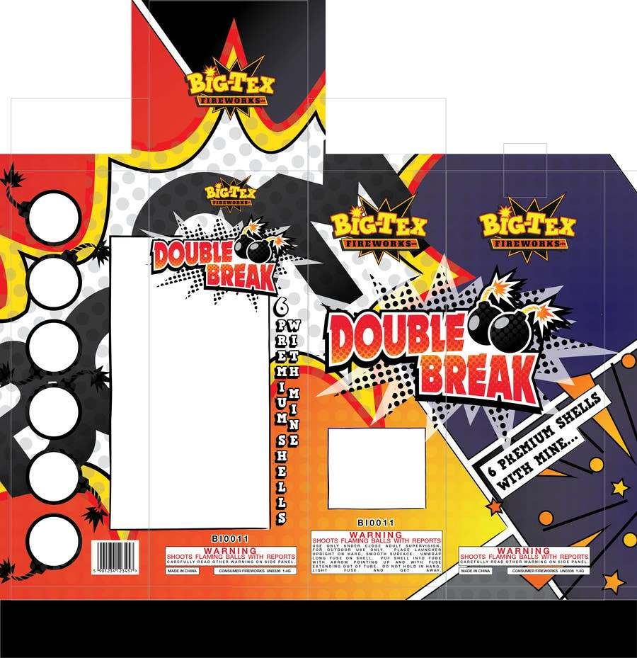 #13 for Redesign the graphics for a box of re-loadable artillery shell fireworks by SabreToothVision