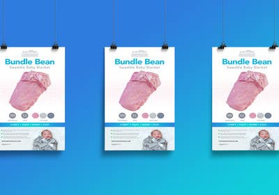 #8 para Retail Store Poster for Baby Swaddle por Nadasol