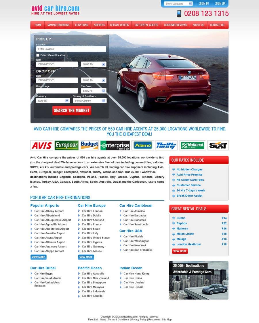Inscrição nº                                         70                                      do Concurso para                                         Website Design for Avid Car Hire