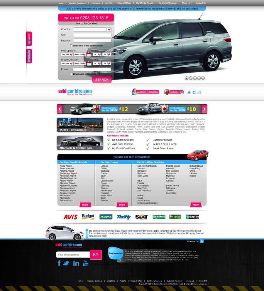Inscrição nº                                         44                                      do Concurso para                                         Website Design for Avid Car Hire