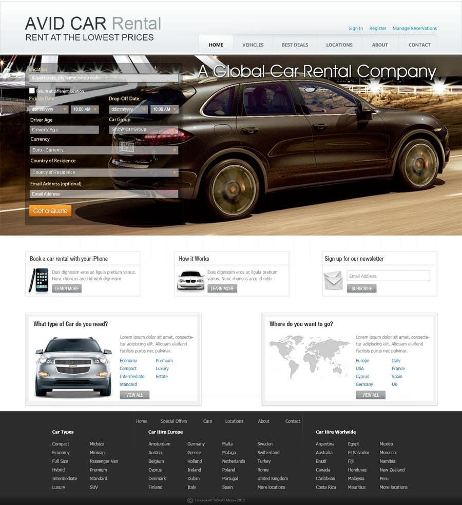 Inscrição nº                                         61                                      do Concurso para                                         Website Design for Avid Car Hire
