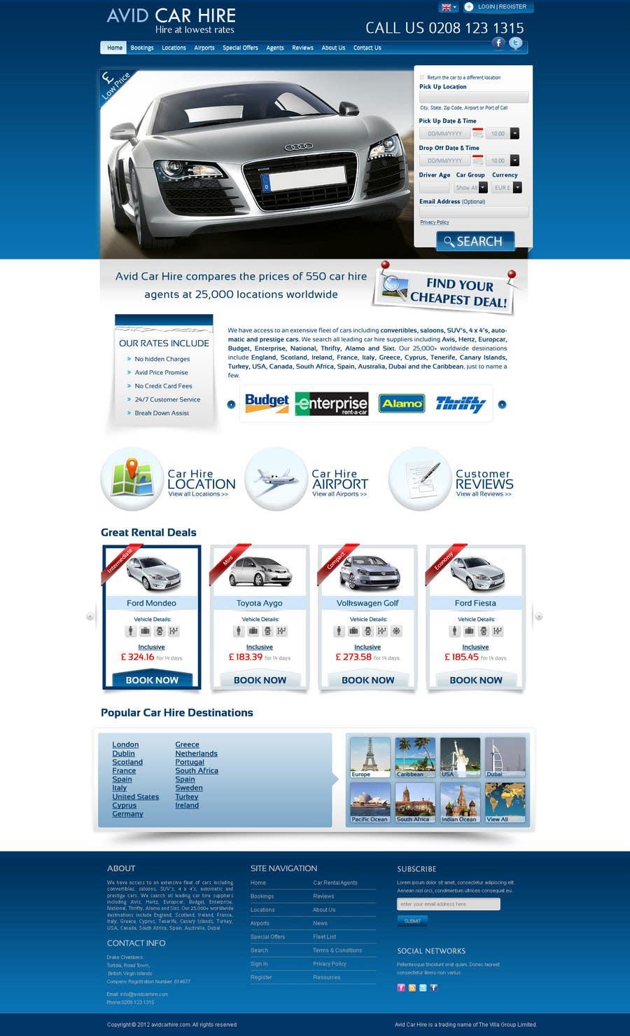 Inscrição nº                                         72                                      do Concurso para                                         Website Design for Avid Car Hire
