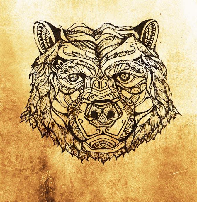 #20 para Handrawn Artistic Bear (head only) Design de kcjneththie