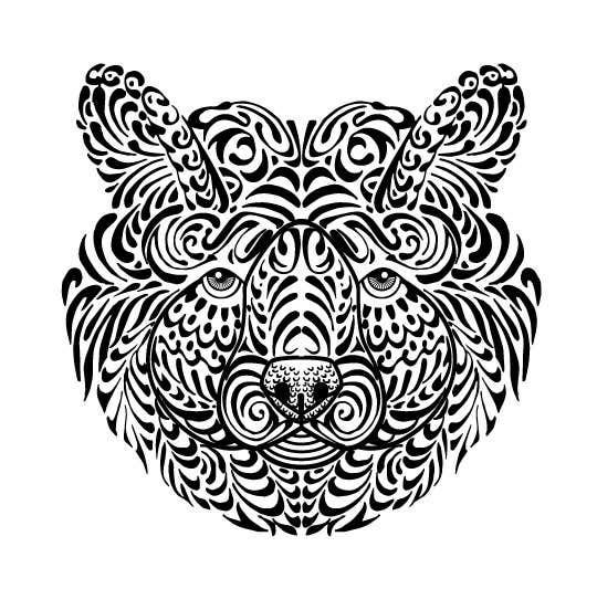 #14 para Handrawn Artistic Bear (head only) Design por caloylvr