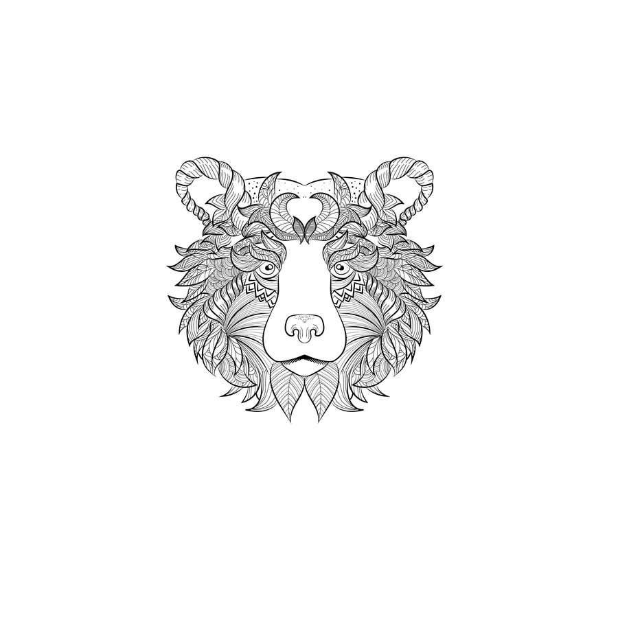 #12 para Handrawn Artistic Bear (head only) Design por namikaze005