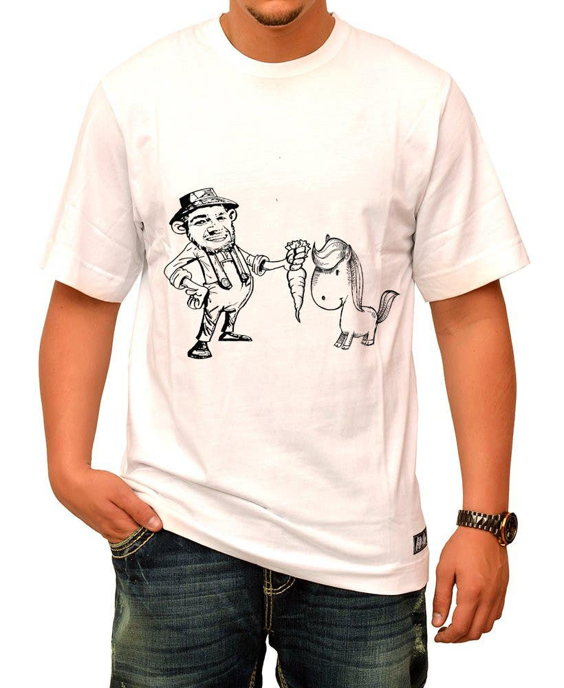 #14 for Design a T-Shirt LLoyd feeding the pony by ozafebri