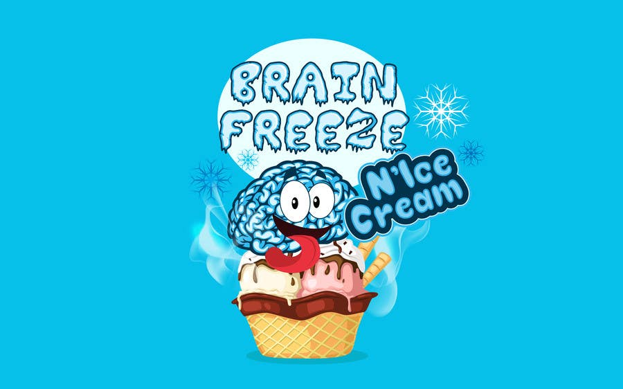#45 for Develop a Sign for Brain Freeze NiceCream by BigBangPro