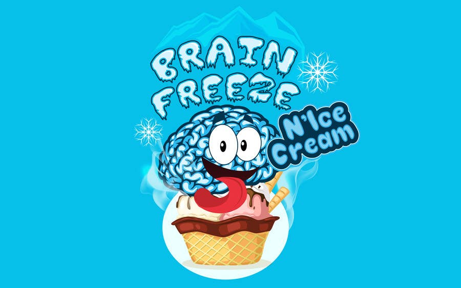 #50 for Develop a Sign for Brain Freeze NiceCream by BigBangPro