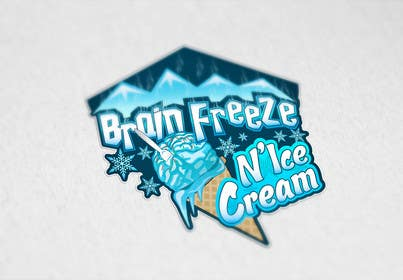 #24 for Develop a Sign for Brain Freeze NiceCream by Plastmass