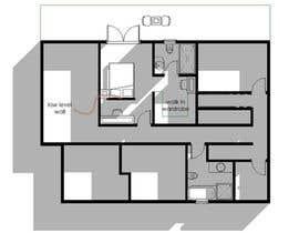 shilpajon tarafından Floor Plan Redesign for 2 Rooms için no 12