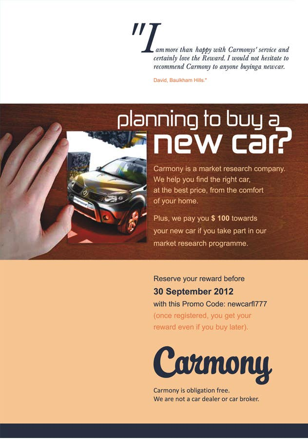Proposition n°5 du concours Flyer Design for Carmony