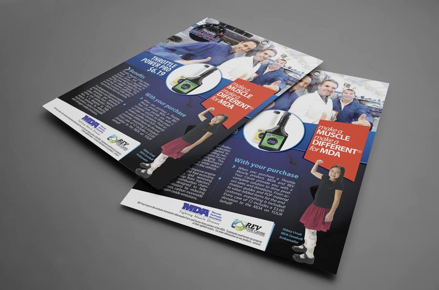 Konkurrenceindlæg #37 for Brochure Design for Throttle Muscle
