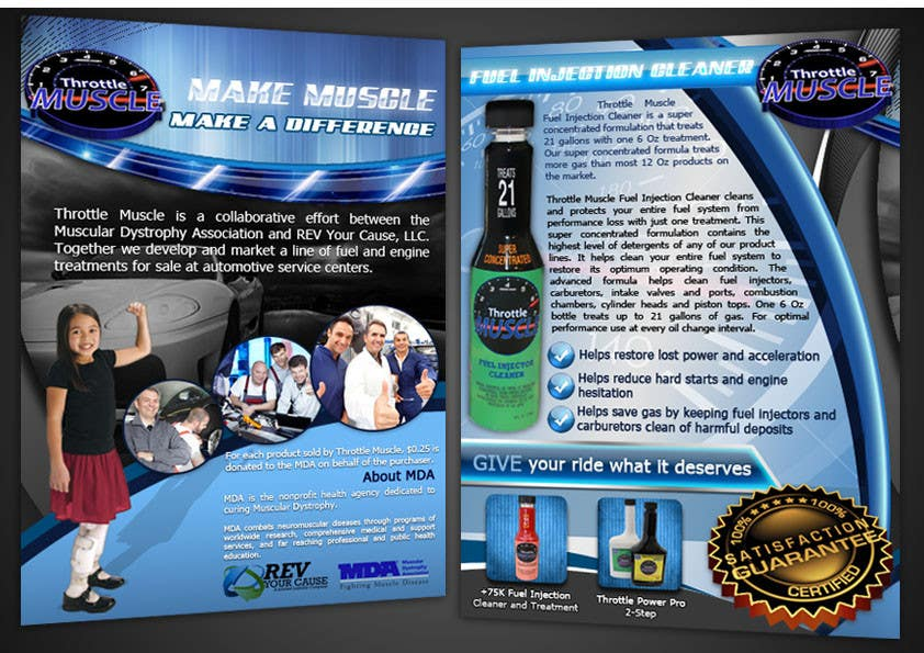Kilpailutyö #50 kilpailussa Brochure Design for Throttle Muscle