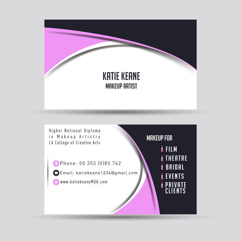 Entry #4 by meceering for Makeup Artist Business Cards | Freelancer