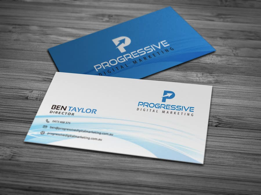 entry 14 by hayrollsteven for design a business card for a digital