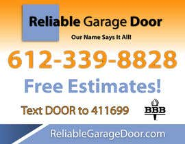 #93 for Graphic Design for Reliable Garage Door by Mdav123
