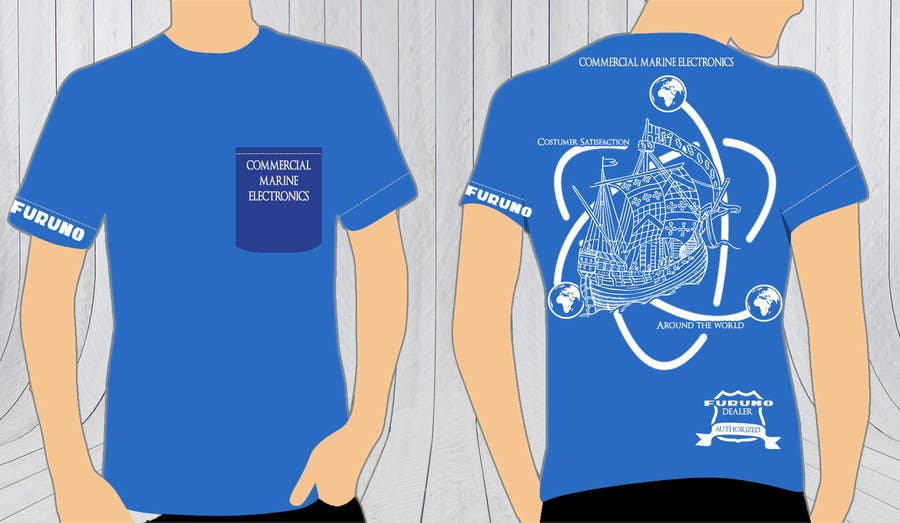 Entry #6 by daxmar1 for Design a T-Shirt for Commercial Marine