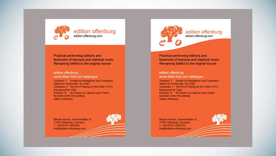 Bài tham dự cuộc thi #                                        12                                      cho                                         Graphic Design for edition offenburg