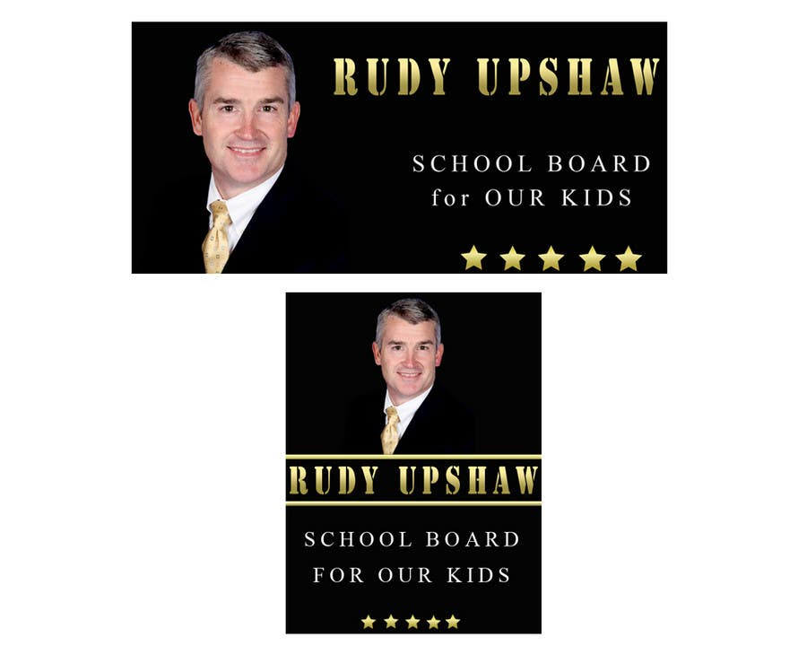 Konkurrenceindlæg #                                        10                                      for                                         Graphic Design for Rudy Upshaw for School Board