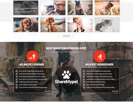 Nro 77 kilpailuun Design a Website Mockup for a pet site käyttäjältä nikil02an
