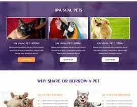 Nro 45 kilpailuun Design a Website Mockup for a pet site käyttäjältä pradeep9266