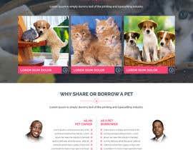 Nro 52 kilpailuun Design a Website Mockup for a pet site käyttäjältä yasirmehmood490