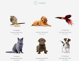 Nro 56 kilpailuun Design a Website Mockup for a pet site käyttäjältä btzardil