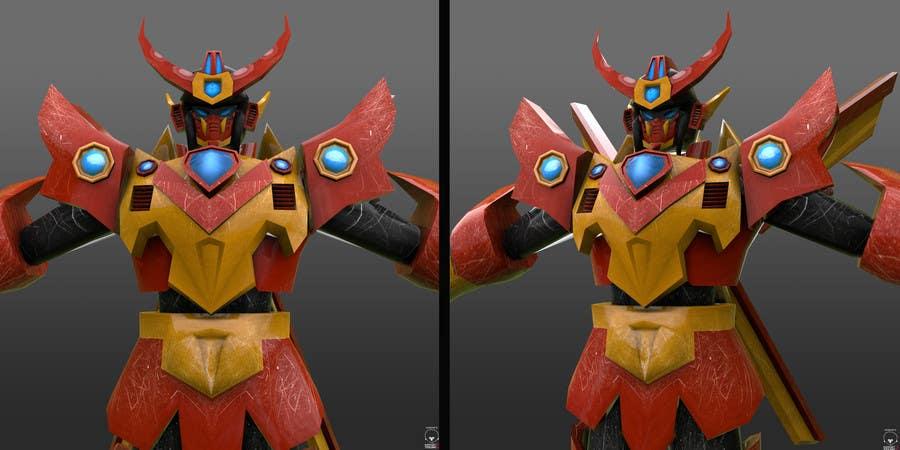 Bài tham dự cuộc thi #                                        35                                      cho                                         Anime Super Robot 3D Model Textured Rigged