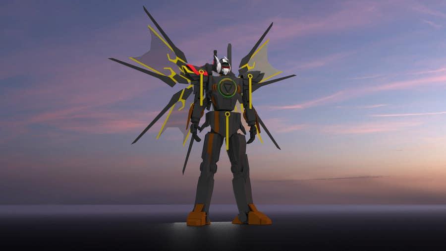 Bài tham dự cuộc thi #                                        25                                      cho                                         Anime Super Robot 3D Model Textured Rigged
